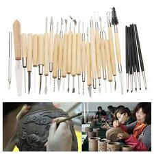 27 Silicone Rubber Clay Sculpting Carving Fimo Modelling Hobby Tools Kit Set