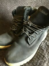 Men's Timberland Blue Suede Boots Size 8.5
