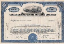 Stock certificate American Sugar Refining w/ documentary & transfer stamps 1958