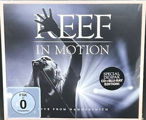 REEF - IN MOTION, LIVE FROM HAMMERSMITH, CD + BLU RAY ALBUM, (2019) NEW / SEALED