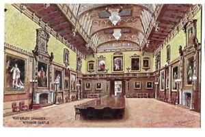 Artist Drawn Postcard J Salmon C T Howard 3620 Waterloo Chamber Windsor Castle