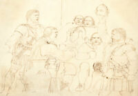 Charles William Cole - 19th Century Pen and Ink Drawing, Celtic Warriors