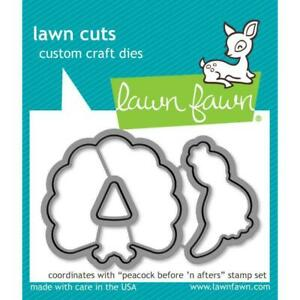 Lawn Fawn Lawn Cuts - Peacock Before 'n Afters Dies LF1961