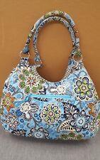 Vera Bradley BALI BLUE Large Purse Shoulder Bag - GUC