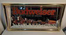 "Vintage Great Condition 1992 Budweiser ""King of Beers"" Clydesdale Bar Mirror"