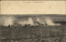 France Military Ecoles a Feu Battlefield Cannons c1915 Postcard