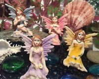 Enchanted Flower Fairies ~ Fairy Garden ~ Pink ~ Lilac ~ Yellow ~ Blue  - 4012