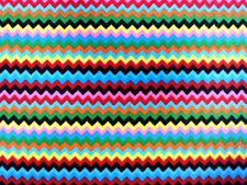 ZIG ZAG MULTI COLOURED POLAR FLEECE ANTI PIL DRESSMAKING BLANKET FABRIC COL 2