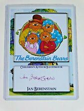 BERENSTAIN BEARS SIGNED JAN BERENSTAIN photo BERENSTAIN BEARS Berenstein