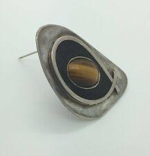 ANTIQUE 925 Sterling Silver 2 In 1 Huge Gemstone Pendant Brooch Necklace 24 Gram