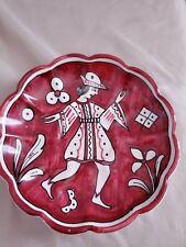 Vtg Rare Augusta Deruta Wall Plate/Saucer- 7 inch hanging