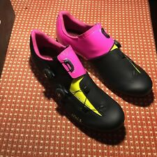 fizik aria r3 bicycle shoes black neon pink chartreuse new in box 46.5 11.5