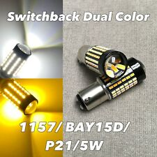 Switchback LED Front Parking Turn Signal DRL White Amber 1157 BAY15D 7528 W1 JA