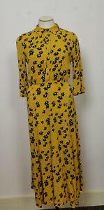 Jigsaw Drifting Ditsy Shirt Dress Sunflower 10 RRP £150.00