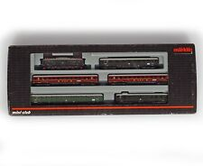 MARKLIN MINI-CLUB 81434 Z GAUGE SET DB BR E 18 Locomotive with 5 Passenger Cars