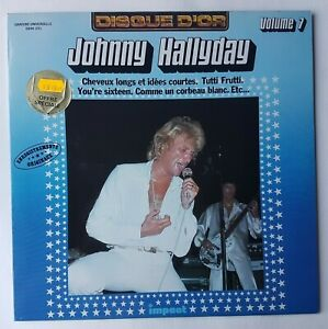 """JOHNNY HALLYDAY 7 - LP EXCELLENT ETAT ! ♦ DISQUE D'OR """"IMPACT"""" - CHEVEUX LONGS.."""