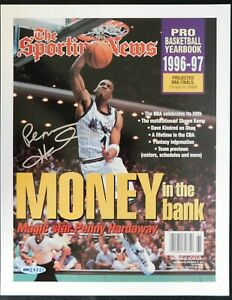 Penny Hardaway Signed The Sporting News 9.25x12 Photo Upper Deck Authenticated
