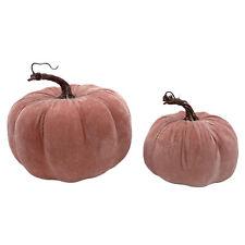 Deko Kürbisse Samt Samtstoff herbstlich rosa Wohnaccessoires Herbst modern