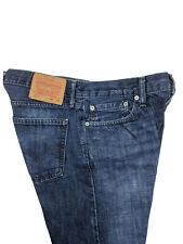 levis Mens 514 Blue Jeans Straight Mid Rise Crosshatch Distress Faded Size 32x30