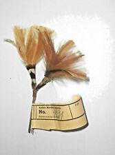Old Hutfeder Vintage Nadler Sebnitz Handarbeit 1950er Deko Feder hat feather (13