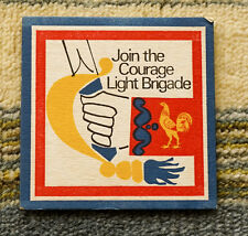 Very Old Beermat Coaster Courage Light Ale (1960's)