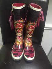 ed hardy rain/snow boots
