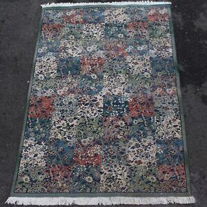 Rug Carpet 228 x 157 cm Marks Spencer Fringed Green