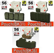 Vest builder pouches and holster  (Combo3) compatible with toy brick minifigures