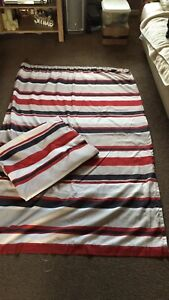 """Striped Curtains Vgc Red White And Grey 43"""" By 70"""""""