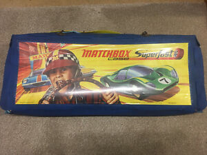 Large Matchbox Lesney Superfast Track Case With Parts And Track