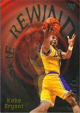 1997 - 1998 Fleer Rookie Rewind Kobe Bryant Los Angeles Lakers #3 Basketball...