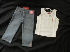 Gymboree GLAMOUR SAFARI Capri Pants Jeans Top Shirt  9