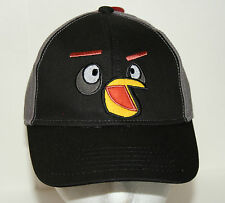 Angry Birds Baseball Trucker Hat Cap New Tags Black Youth OSFA