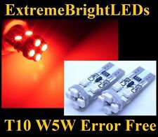 TWO Brilliant RED 8-SMD Canbus Error Free LED Parking Lights #11B