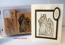 STAMPIN UP Holy Family set~Christmas Baby Jesus Mary Joseph~Religious