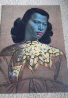 Tretchikoff chinese girl green lady beautiful A3 borderless  print retro kitsch