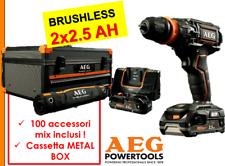 Trapano Avvitatore elettrico Brushless a Percussione Batteria 18V 2.5 Ah AEG
