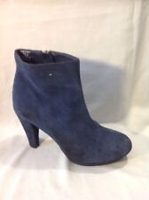 H&M Blue Ankle Suede Boots Size 37