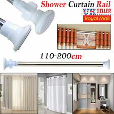 110-200cm Extendable Telescopic Shower Curtain Rail Pole Rod Bath Window Chrome