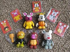 """Disney 3"""" Vinylmation HAVE-A-LAUGH Series Lot of 5 w/ Artist Cards"""