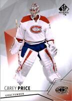 2015-16 SP Authentic Hockey #46 Carey Price Montreal Canadiens