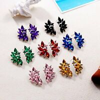 Fashion Wedding Wing Flower Drop Dangle Earrings Women Charm Jewelry Gift Party