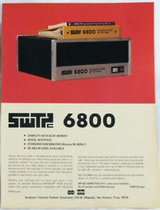 Vintage 1976 SWTPC 6800 Personal Computer Print Ad