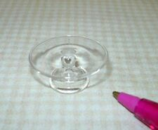 Miniature Clear Glass Pedestal Cake Plate Stand (SMALL): DOLLHOUSE 1/12