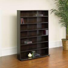 Multimedia Storage Tower Adjustable 6 Shelves for Home Office Furniture - Brown