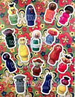 Vintage Fisher Price Little People Complete Sesame Street Figures STICKERS Set