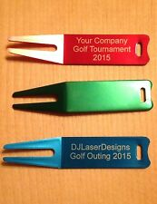Qty 25 - Laser Etched Personalized Anodized Aluminum Golf Divot - Engraved