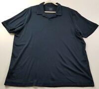 Perry Ellis Men's Short Sleeve Polo Shirt 2XL XXL Blue Casual Everyday Cotton