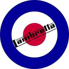 Roller Aufkleber Lambretta British Roundel Vinyl Sticker Mod Culture x 1