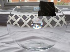 Valentines day gift Vase Elegant Hand Blown Glass Vase + Swarovski Crystal  W3A